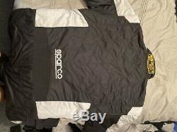 Sparco Energy RS-5 FIA Approved Race Rally Suit Black / Silver Size 56