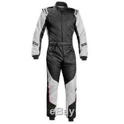 Sparco Energy RS-5 Race Suit black silver FIA Race Rally Size 54