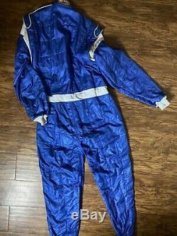 Sparco FIA 2005 Racing Suit Nomex X-Light 300 Sz 62 Blue Full Body