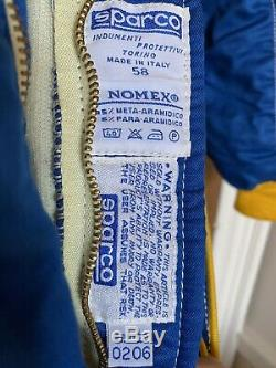 Sparco FIA 8856-2000 Approved Nomex Race Suit, Size 58, Perfect Condition
