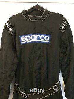 Sparco FIA 8856-2000 Approved Nomex Racesuit Size 58 Black Race Rally Motorsport