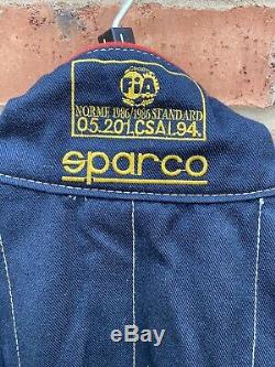 Sparco FIA Approved Blue Race Suit Race / Rally Size 60