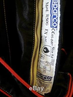 Sparco Fia approved race suit size 54