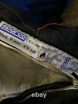 Sparco Fire Proof Race Suit Size 62 (X Large) R506