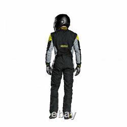 Sparco GRIP RS-4 Racing Suit Black/Yellow (Homologation FIA)- 52 EU