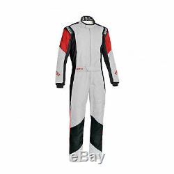 Sparco GRIP RS-4 Racing Suit White/Red (Homologation FIA) 50 EU