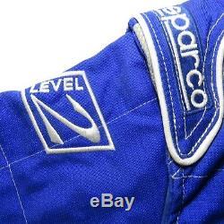 Sparco Go Kart Racing Blue Suit Children's Kid's Size 120 cm Blue Level 2 Gloves