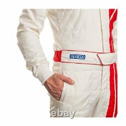 Sparco Italy CLASSIC MY19 Race Suit White (FIA homologation) (56)