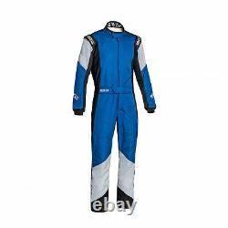 Sparco Italy GRIP RS-4 Racing Suit Blue/Grey (Homologation FIA) (50)
