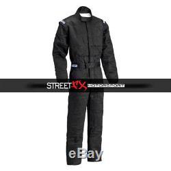 Sparco Jade 2 Series Racing Suit, L Size, Black 001058J3LNR