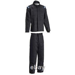 Sparco Jade 3 SFI5 Two-Piece Racing Suit Combo BLK L Pants, BLK XXL Jacket