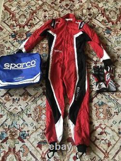 Sparco KERB Kart XS Go Karting Suit Black/Red CIK-FIA Approved 2021