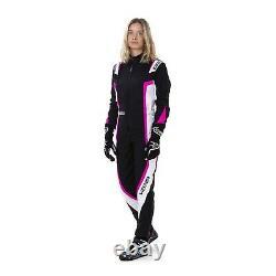 Sparco KERB LADY Kart Go Karting Suit Black/Pink CIK-FIA Approved MY2020