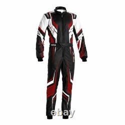 Sparco PRIME-K Kart Go Karting Suit Black/Red CIK-FIA Approved 2021