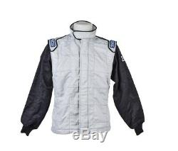 Sparco Pro SFI 3-2A/5 Drag Racing Suit Top Jacket Blue Grey CLEARANCE SALE STOCK