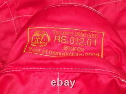 Sparco R504 3 layer Nomex FIA Race Suit Mens Size EUR 60 RRP £289 RED