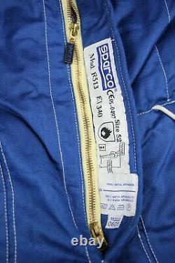 Sparco R513 vintag racing Team race for win vintage blue mens suit Size M