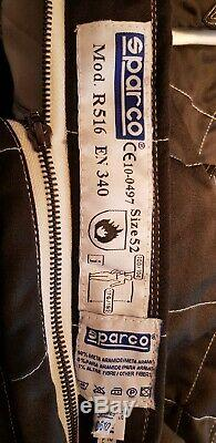 Sparco R516 Race Suit Black Size 52 with Carry Bag NEVER WORN