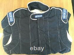 Sparco Race Rally Suit, Black, Size 54 FIA Approved 8856-2000