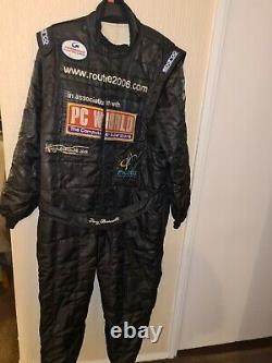 Sparco Race Suit, Black, With Sponsor Patches