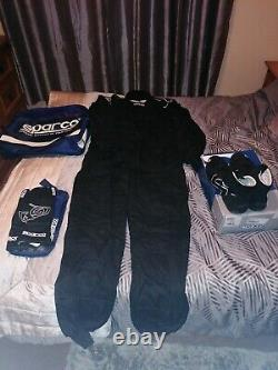 Sparco Race Suit, Gloves And Shoes