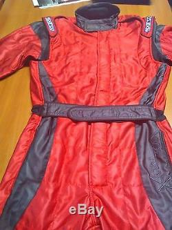 Sparco Race Suit Overall Fia 8856-2000 Size Medium Black/red Overall Light Suit