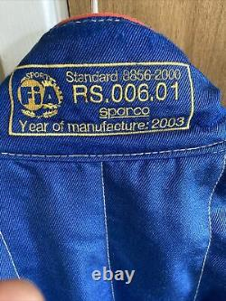 Sparco Race Suit Size 54 Medium