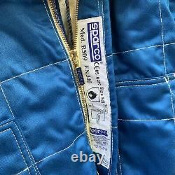 Sparco Racing Race Team Suit Racing Club White/Blue Flame Resistant Size 58