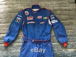 Sparco Racing Suit 2005 Fia Model R506 Sz 60 xl NASCAR Mobil Goodyear FR
