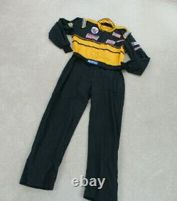 Sparco Racing Suit Adult Extra Large Gray Yellow Racer Racecar Uniform Mens