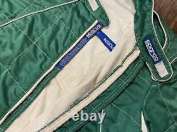 Sparco Racing Suit Green Quilted Pattern FIA Norme 1986 Tagged 60 READ DETAILS