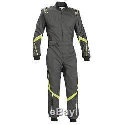 Sparco Robur KS-5 CIK FIA Level 2 Kart / Karting Suit Grey / Yellow Small (S)