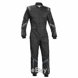 Sparco Robur KS-5 Go-Kart/Karting/Race/ CIK FIA Suit Black / Grey Size S