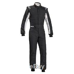Sparco Sprint R548 RS-2.1 Race Karting Suit 2 Layers FIA Mono Black/White Sz 52