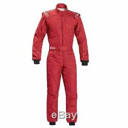 Sparco Sprint RS-2.1 FIA Race Racing Driving Rally Track Suit Red Size 66