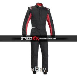 Sparco Sprint RS2.1 BC Series Racing Suit, 58 Size, Black with Red 001040X358NRRS