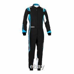 Sparco THUNDER Kart Go Karting Suit Black/Blue CIK-FIA Approved MY2020