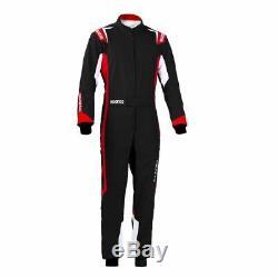 Sparco THUNDER Kart Go Karting Suit Black/Red CIK-FIA Approved MY2020