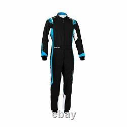 Sparco THUNDER Kart Karting Auto Racing Suit (CIK FIA) black blue size XL
