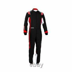 Sparco THUNDER Kart Karting Auto Racing Suit (CIK FIA) black red size XL