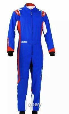 Sparco THUNDER Karting Race Suit blue Red (with CIK-FIA level 2 2025) XS