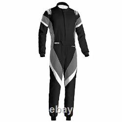 Sparco Victory FIA Approved Race Rally Suit Black / Grey / White Size 58