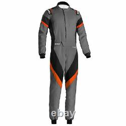 Sparco Victory FIA Approved Race Rally Suit Grey / Black / Orange Size 56