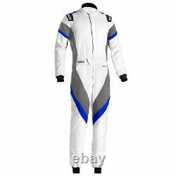 Sparco Victory FIA Approved Race Rally Suit White / Grey / Blue Size 56