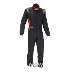 Sparco Victory RS-4 Racing Suit, SFI-5 Rated, Black/Red, M/L