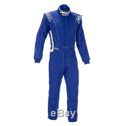 Sparco Victory RS-4 Racing Suit, SFI-5 Rated, Blue/White, XXL