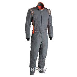 Sparco Victory RS-4 Racing Suit, SFI-5 Rated, Gray/Orange, M/L