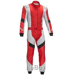 Sparco X-Light RS-7 FIA Approved Nomex / Carmyth Race Suit Red / Silver Size 50