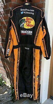 Sparco XL 38W x 32L Bass Pro RCR Racing 1-PC Nascar Fire Suit SFI Dillon Fishing