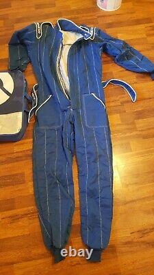 Sparco race suit size 54 in blue with carry bag